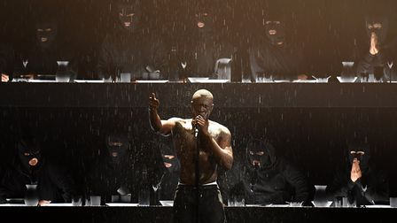 Stormzy performs on stage during the 2018 BRIT Awards show. Picture: Victoria Jones/PA Wire.