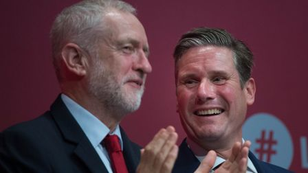 Labour leader Jeremy Corbyn with Shadow Brexit secretary Sir Keir Starmer. Photograph: Stefan Rousse