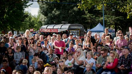 The large crowds in St Georges Park, Great Yarmouth for the Out There Festival. Pictures: JMA Photog