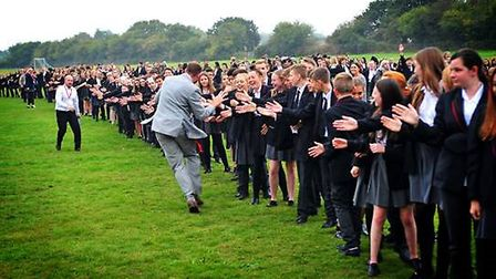 Pupils of Ormiston Venture Academy, in Gorleston attempted the record on Wednesday, October 14 in th