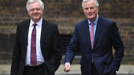 European Commission negotiator Michel Barnier arrives at 10 Downing Street for talks with Brexit Sec