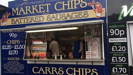 Steven and Lisa Carr of Carr's chip stall which is feeling the pinch thanks to soaring potato prices
