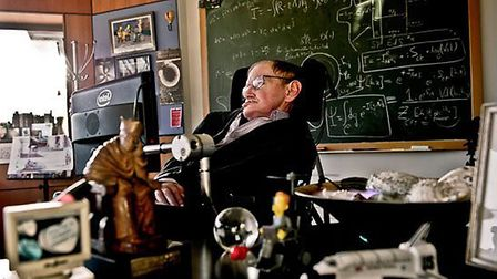 Science Museum's photograph of Professor Stephen Hawking in his office at University of Cambridge, w