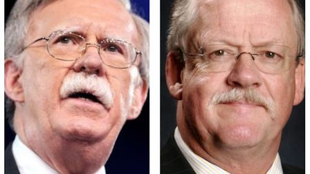 Look familiar? UKIP's Roger Helmer (right) tweeted his support of Trump's new National Security Advi