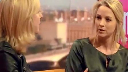 Isabel Oakeshott and Carole Cadwalladr debate Cambridge Analytica on the Marr Show. Pictures: BBC.