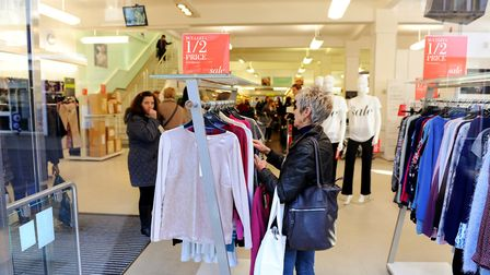 The closing-down sale underway in M&S Great Yarmouth which shut its doors in January 2015 Picture: J
