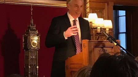 Tony Blair delivers a speech in Parliament Photo: Contributed