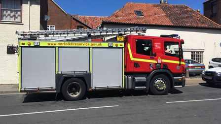 Fire crews tackled a blaze in a derelict building in Great Yarmouth.