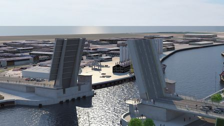 A view of what the Great Yarmouth third river crossing could look like Picture: Norfolk County Counc