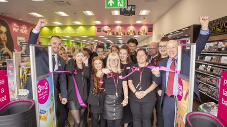 Staff at the opening of the new Superdrug store at Gapton Hall on May 17 Picture: Victor Ling