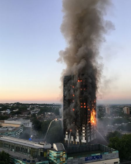 File photo dated 14/06/17 of the fire at Grenfell Tower in west London as each of the 71 victims of