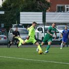 Keeper Elvijs Putnins has left Lowestoft Town to rejoin Great Yarmouth Town Picture: SHIRLEY D WHITL