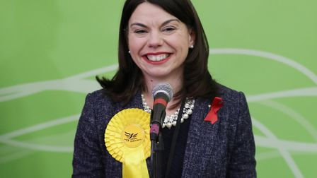 Liberal Democrat candidate Sarah Olney after winning the Richmond Park by-election in 2016. Picture: