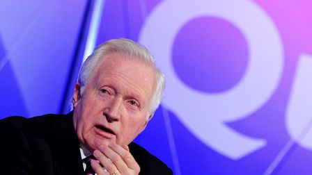 David Dimbleby presenting Question Time on the BBC. Picture: Ian West/PA Archive/PA Images