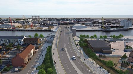 A view showing the dual carriageway approach to the third river crossing Picture: Norfolk County Cou
