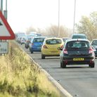 There was a four-car crash on the A47 Acle Straight Picture: James Bass