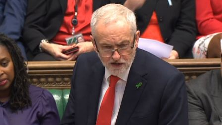 Labour party leader Jeremy Corbyn speaks during Prime Minister's Questions in the House of Commons