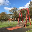 The zipline at Mill Lane Recreation Ground in Bradwell. Hopton Parish Council hopes to install a sim