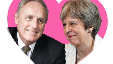 Theresa May and Paul Dacre. Picture: Archant