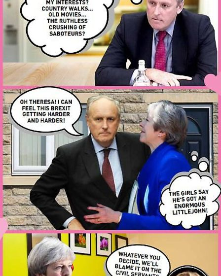 Theresa May and Paul Dacre's love story. Picture: Archant