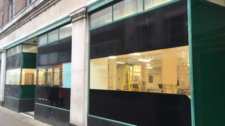 The lights are back on in Great Yarmouth's former M&S store in King Street, Great Yarmouth Picture: