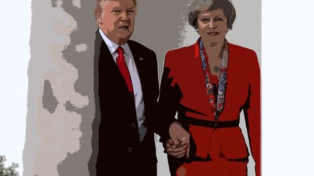 President Trump and British PM Theresa May. Photograph: Christopher Furlong/Getty Images.