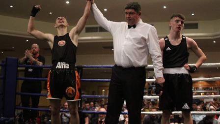 Alfie Miller, 16, from Spartans Amateur Boxing Club in Great Yarmouth, has won a national bout. Pict