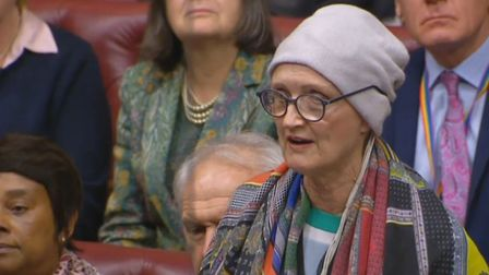 Dame Tessa Jowell speaking in the House of Lords in January. Picture: PA Wire