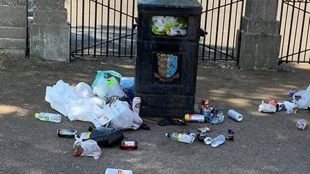 Residents are appalled by the amount of litter building up in seafront and park bins across Great Ya