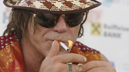 Mickey Rourke during a press conference at the Sarajevo Film Festival. Picture:Almir Panjeta/HaloPix