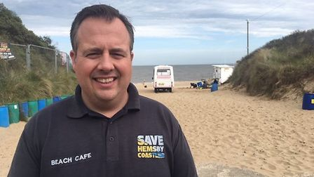 Hemsby borough councillor James Bensly is keen to defuse a bid to boycott Hemsby, launched on Facebo