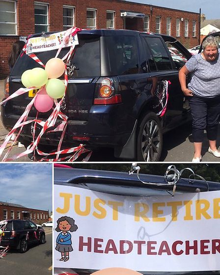 Elaine Glendinning was given a send off after retirinmg as headteacher of Southtown Primary in Great