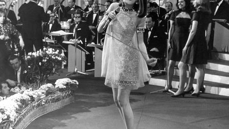 EuroVision Song Contest 1967 in Vienna. The picture shows the winner Sandie Shaw (Great Britain). Ph