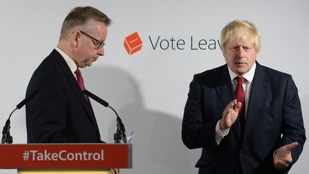 Michael Gove and Boris Johnson in the wake of the Brexit vote. Photograph: Stefan Rousseau.