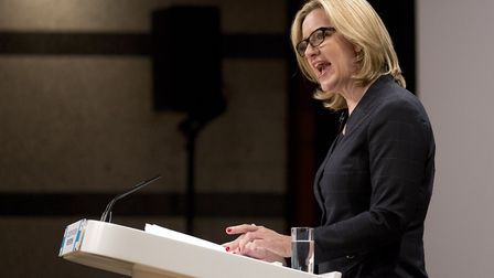 Amber Rudd, the former Home Secretary. Photograph: Isabel Infantes/PA.