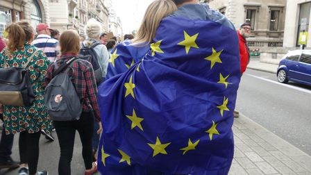 A photograph from one of the 'March for Europe' events. Photograph: NurPhoto.