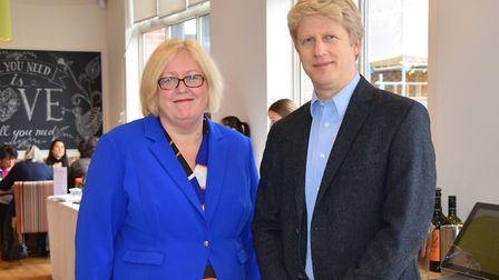 Jo Johnson MP with Sam Parett OBE, Principal and CEO of London South East Colleges & London South Ea