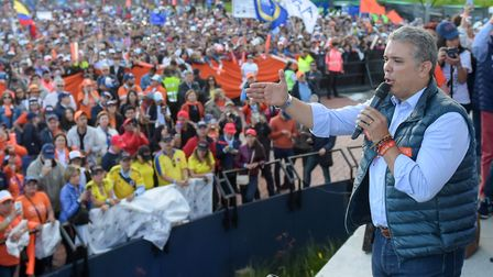 Colombia's presidential candidate for the Democratic Center Party, Ivan Duque. Picture: Getty Images