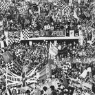 Liverpool fans at the Stadio Olimpico in Rome to watch their team play in the 1977 European Cup fina