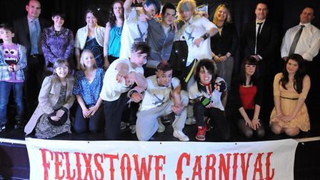 Some of the entrants and organisers of last year's Felixstowe's Got Talent competition.