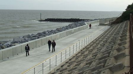 The new section of prom at Cobbold's Point, Felixstowe - part of the latest £10 million sea defences