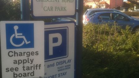 Crescent car park in Felixstowe - drivers are more likely to pick up a fine for failing to buy a tic