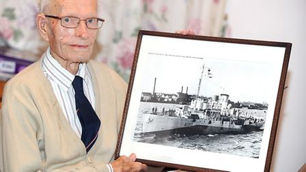 Archie Mayes talks about his time in the Russian Convoys during WWII. Archie is pictured with old ph