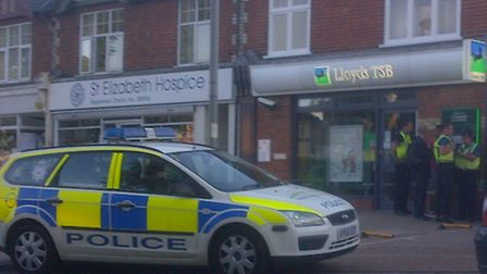 Lloyds TSB - the scene of the alleged robbery