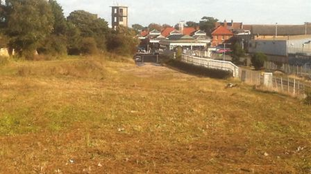 The old railways sidings site where Albourne Properties propose to build a new superstore for Felixs
