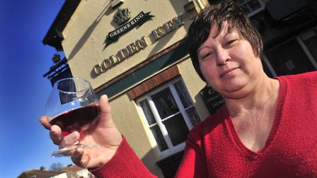 Dee Haining bids farewell to her customers as the Golden Key, Ipswich is sold to Sainsbury's