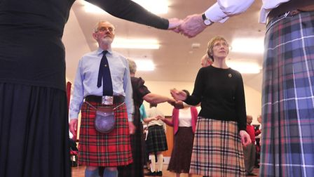 The Anglo Scotish Society of Ipswich perform some traditional Scotish dances at Rushmere Village Hal