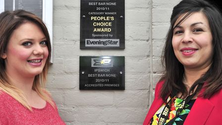 Launch of Best Bar None People's Choice Award at Bowmans, Ipswich Leonie Read of Bowmans, with Caro
