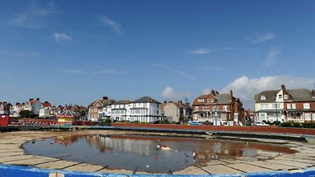 The old boating lake at Felixstowe - options are being considered for its future.