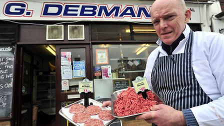 Butcher George Debman has benefited from the horsemeat scandal.